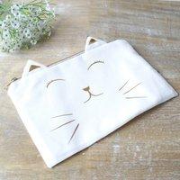 Hidden Message Cat Make Up Bag