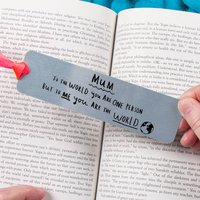 Mother's Day 'Mum You're The World' Bookmark