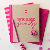 Family Activity And Memory Book In Hot Pink, Navy Blue/Navy/Blue