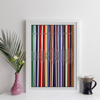 Personalised Record Collection Print Oversized Lps