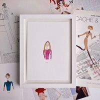 Custom Mini Personalised Girl Portrait Painting