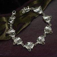 Elephant Bracelet In Sterling Silver, Silver