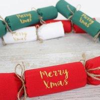 Reusable Personalised Cracker Napkins Traditional Set
