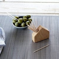 Oak House Match And Cocktail Stick Holder