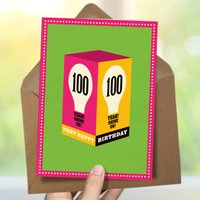 100th Milestone Birthday Card 'Shine On'
