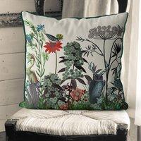 Wildflower Bloom Owl Cushion