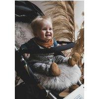 Baa Baby Pram Style Sheepskin Pram Liner Grey Long