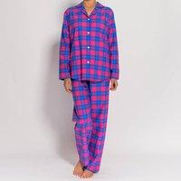 Womens Pyjamas In Pink Tartan Flannel