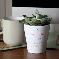 Helping Me Grow Teacher Plant Pot With Seeds