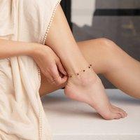 January Garnet Birthstone Anklet