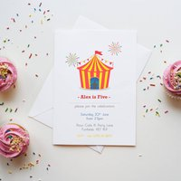 10 Circus Party Time Invitation