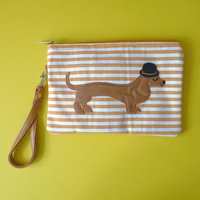 Mr Sausage Dog Cosmetic Pouch / Clutch