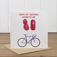 Personalised Bike 80th Birthday Card