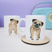 Pug Mug Funny Pug Butt Reverse Mug