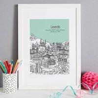 Personalised Leeds Print