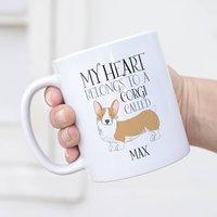Personalised My Heart Belongs To A Corgi Mug
