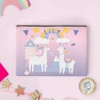 Personalised Unicorn And Llama Coin Purse