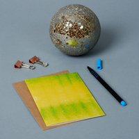 Yellow And Green Watercolour Greeting Card