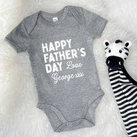 Personalised Happy Fathers Day Love… Babygrow