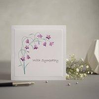 Purple Snowdrop Sympathy Greetings Card