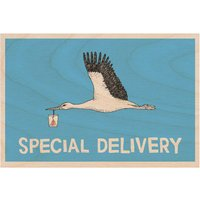 Special Delivery Wooden Postcard