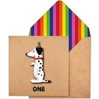 Handmade Childrens Age One Birthday Personalised Card