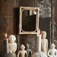 Rectangle Mini Bamboo Wall Mirror Po Oct