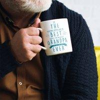 Personalised 'Best Grandad Ever' Secret Message Mug, Black/Teal/Grey