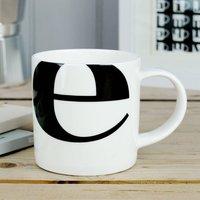 Alphabet Initial Mug: E
