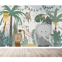 Safari Jungle Childrens Wallpaper Mural