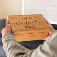 Personalised Chocolate Box Oak