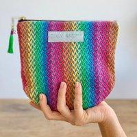 Rainbow Handwoven Pouch