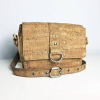 Handcrafted Cork Crossbody Handbag