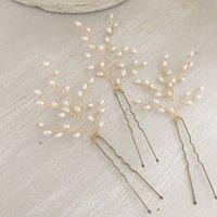 Ivory Bridal Pins Set Of Three