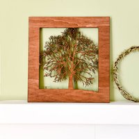 Wood Cut Tree With Forever Wording In The Branches