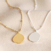 Carly Rowena Organic Shape Disc Necklace
