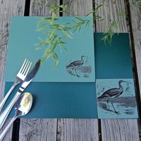 British Birds Leather Placemat