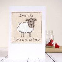 Personalised Sheep Card