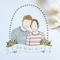 Personalised Couple Portrait In Pen And Ink