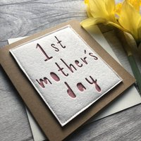 'First Mother's Day' Felt Mother's Day Card