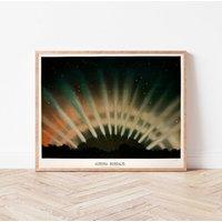 Astronomy Art Print Aurora Borealis