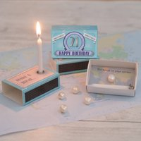 Happy 21st Birthday Greeting For Her In A Matchbox
