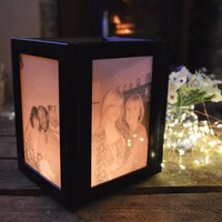 Personalised Tea Light Memorial Photo Lamp