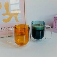 Round Double Layered Mug Coloured Glassware