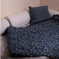 Indigo Swirls Double King Size Cotton Quilts