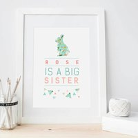 Personalised New Big Sister Or Brother Print