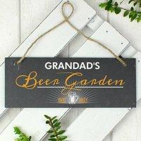 Personalised Beer Garden Printed Hanging Slate Plaque