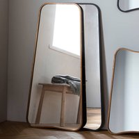 Curved Wall Or Leaning Mirror, Gold/Black