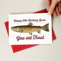 Old Trout Funny Birthday Card