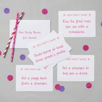 Hen Party Dare Cards, Black/Grey/Red